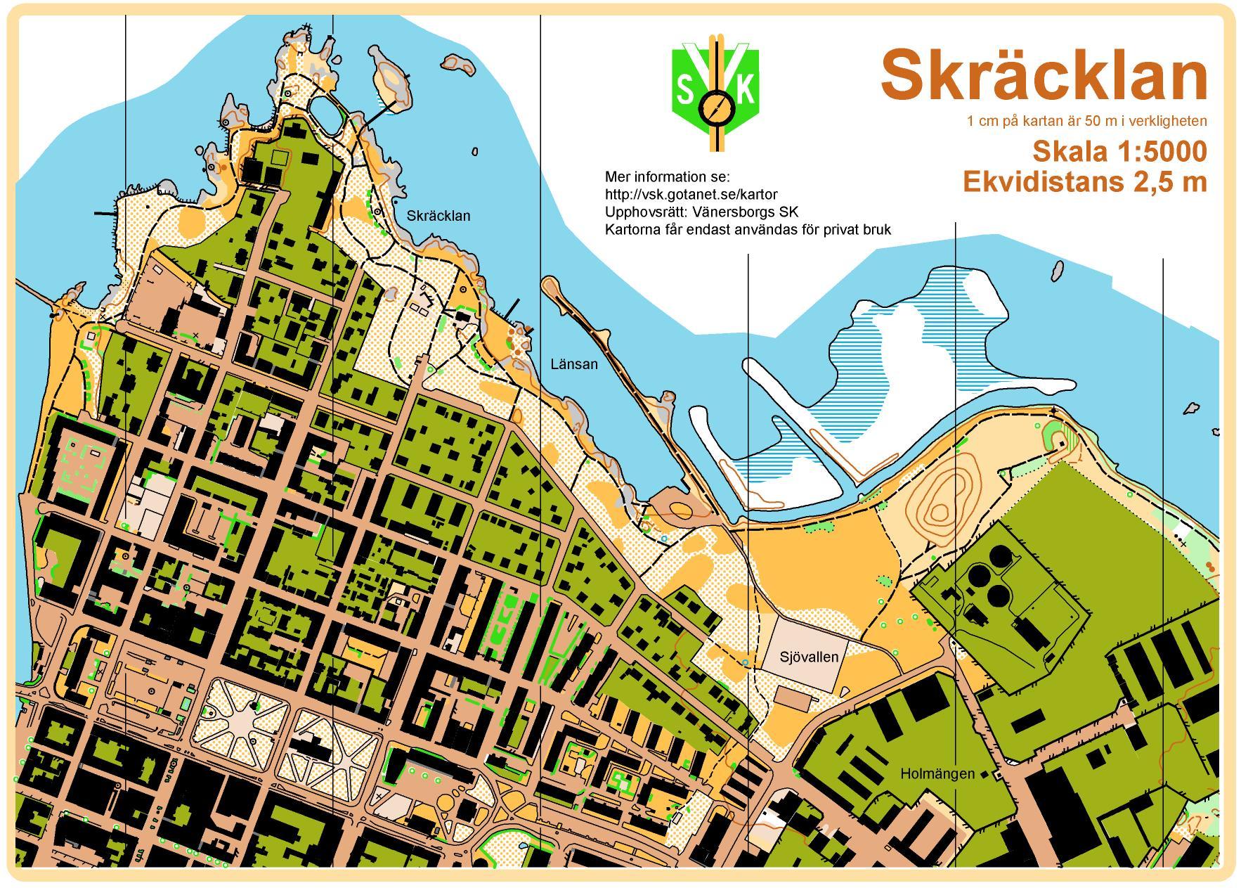 Karta Vanersborg.Kartor Vanersborgs Sk